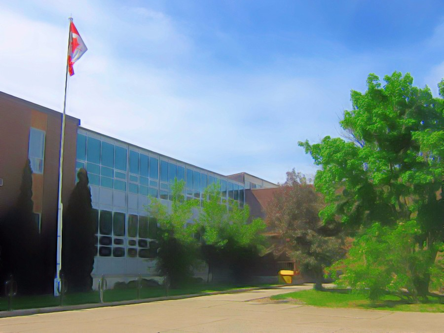 View of front of school