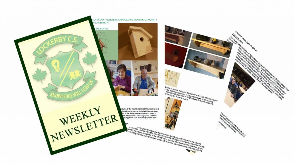 Fanned pages of newsletter.
