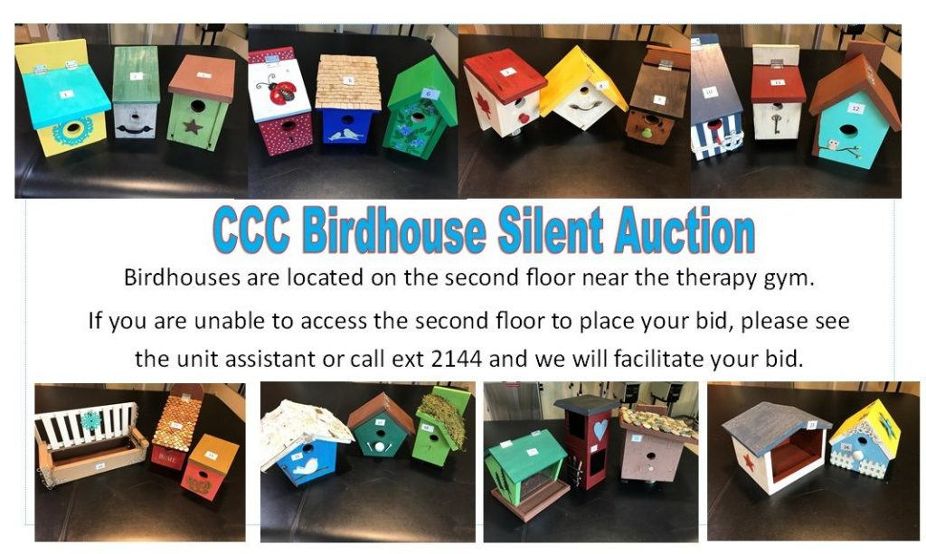 Collage of coloured birdhouses.