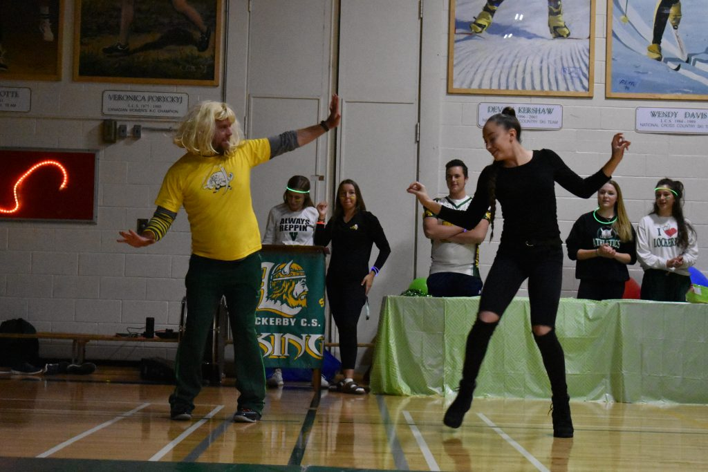 teacher and Lockerby alumni Patricia Gordon dancing