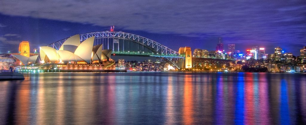 Sydney Australia at night.