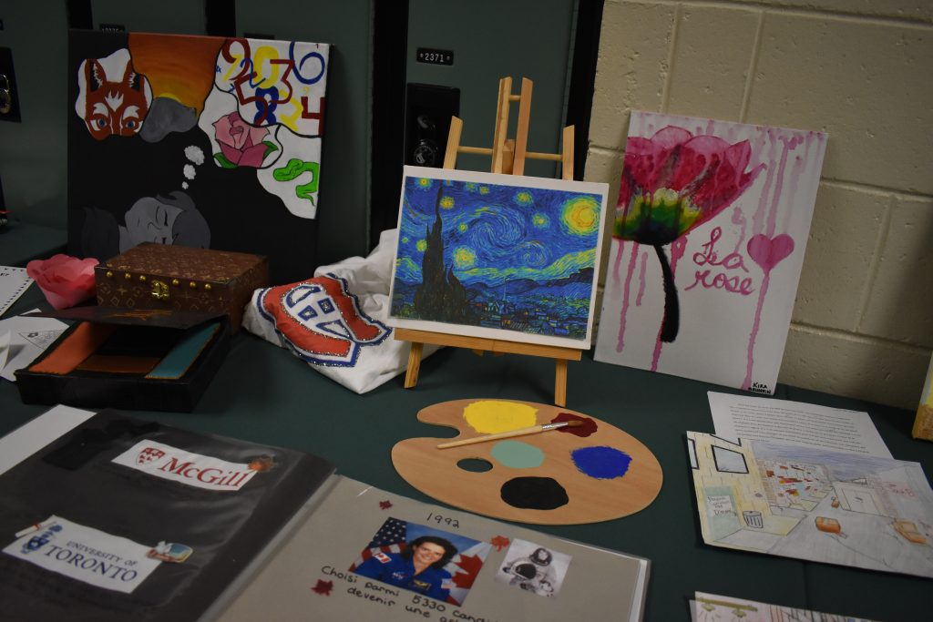 a variety of french immersion student projects