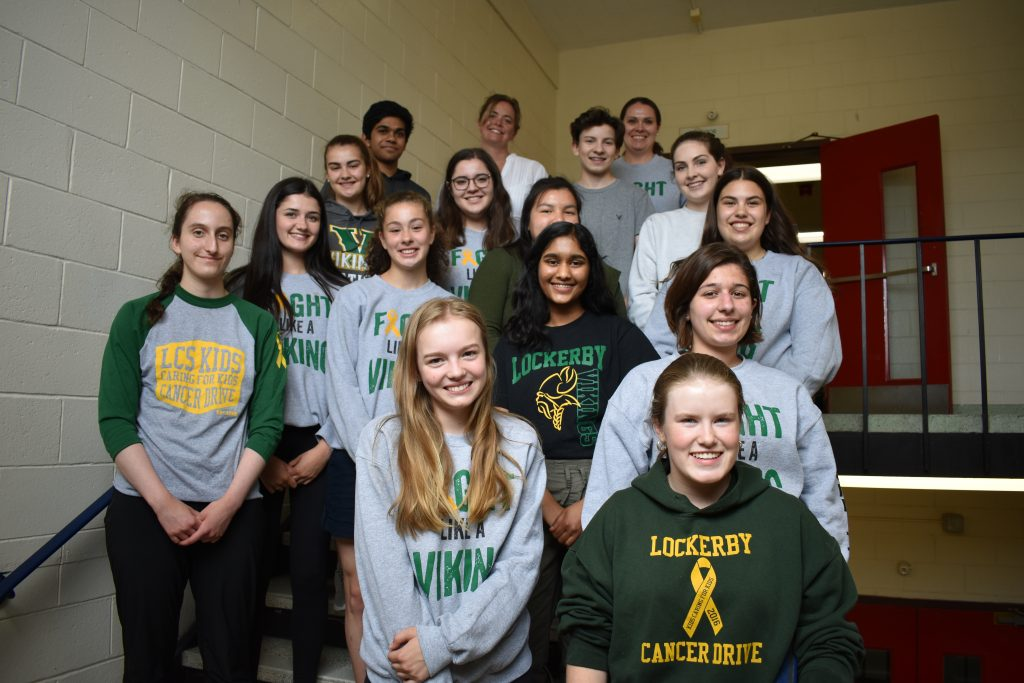 A group of students in the stairwell