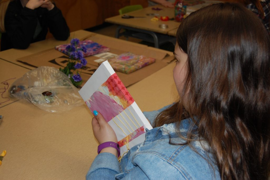 lockerby student working on one of her projects