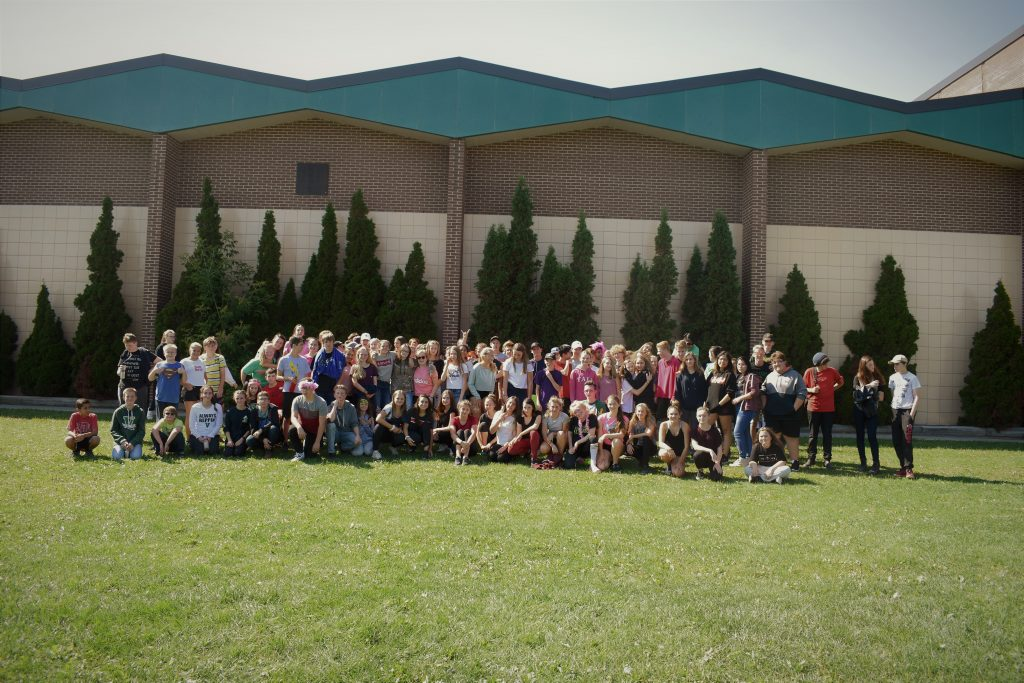 A group photo of Lockerby's grade nine students