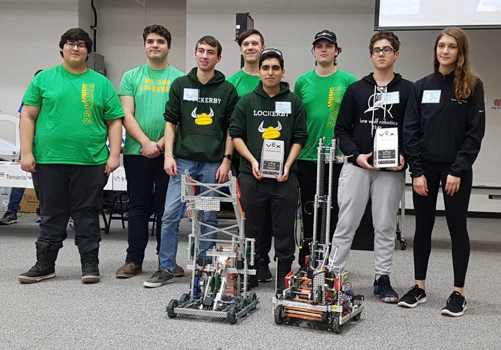 Robotics Team with Trophies