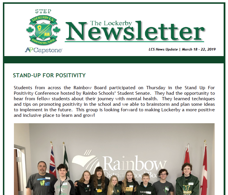 newsletter main page