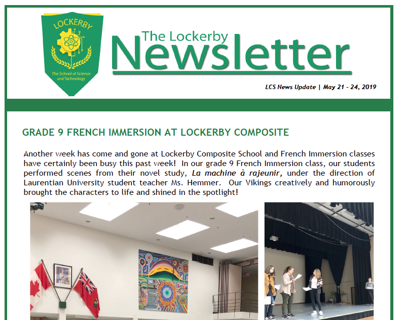 newsletter front-page
