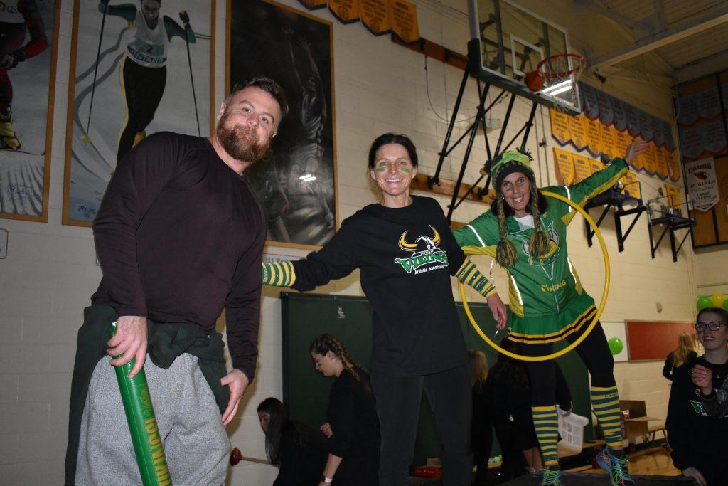 Lockerby teachers at pep rally