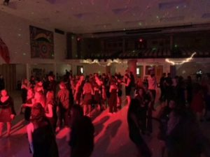 student's at a dance
