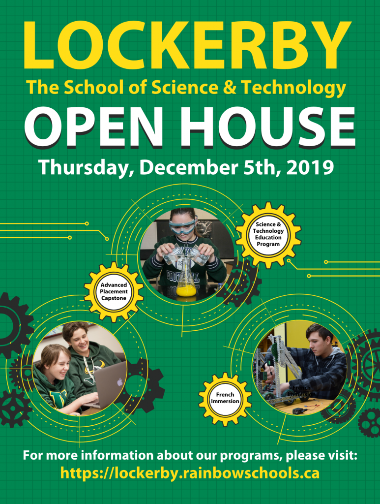 large open house poster