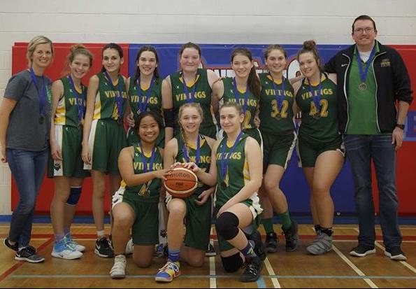 Basketball team posed