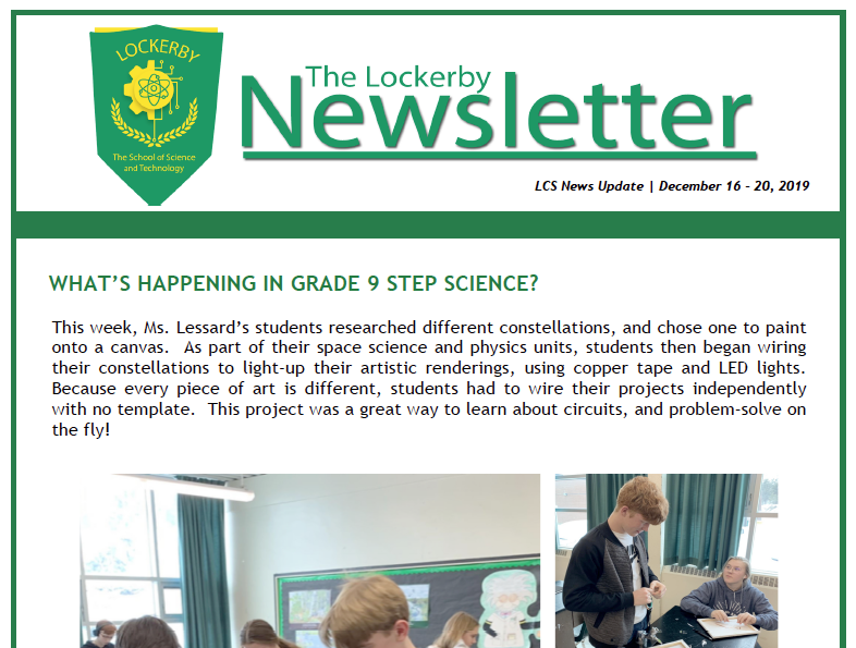 frontpage newsletter