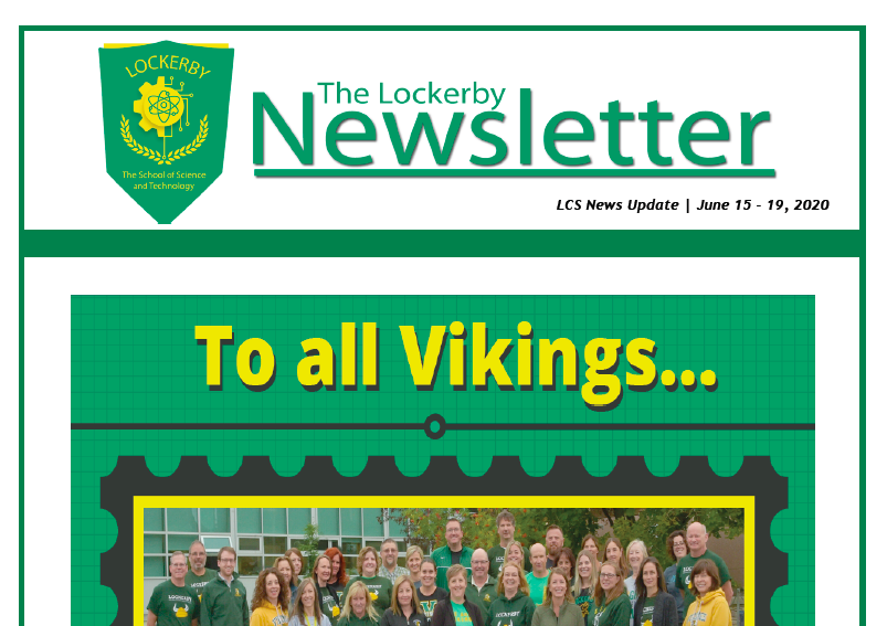 newsletter front page staff