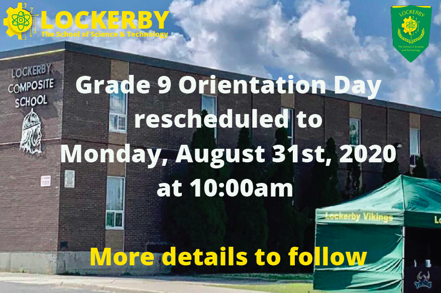 front of school with orientation date change