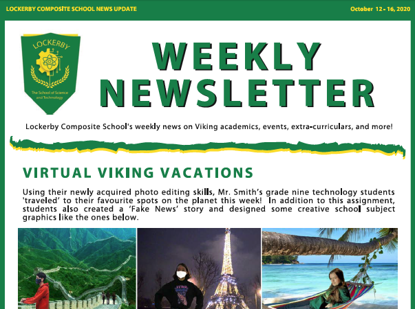newsletter coverpage
