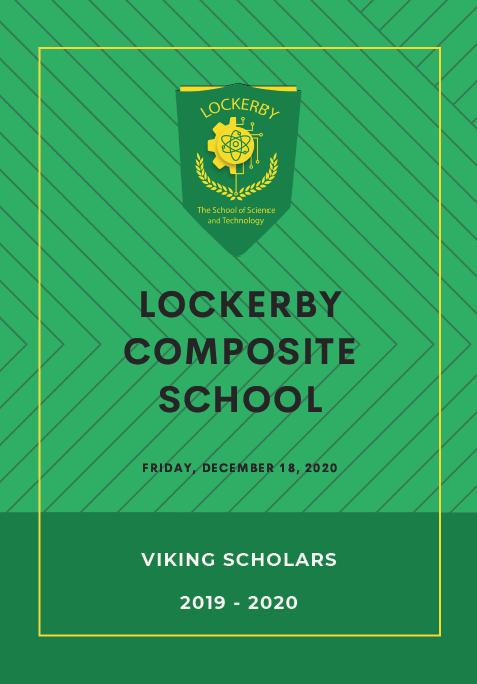 Viking Scholars program cover 2019-2020