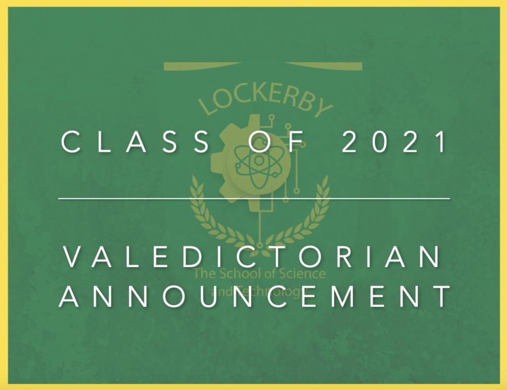 Valedictorian announcement image